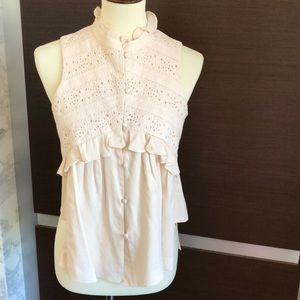 Intermix Blush Top with Lace Detail